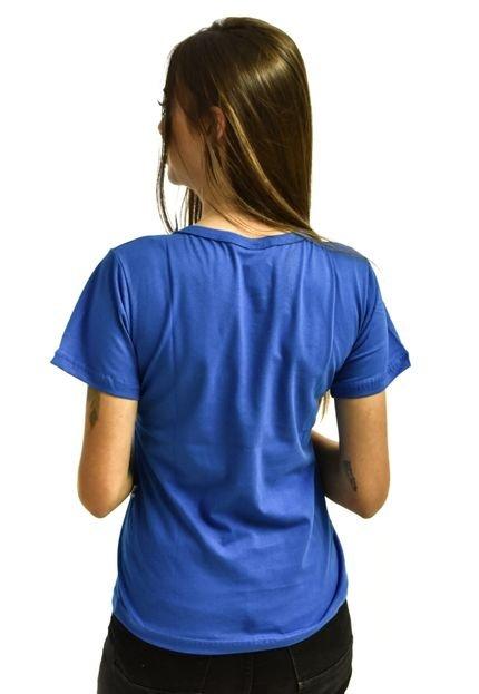 Rich Young Camiseta Rich Young Baby Look Básica Lisa Malha Azul Royal CjZ3x
