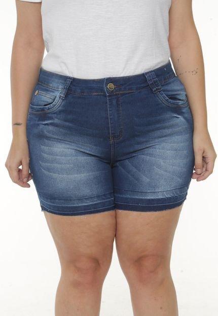 Saint Yves Short Jeans Plus Size da VGI Azul gjxxQ