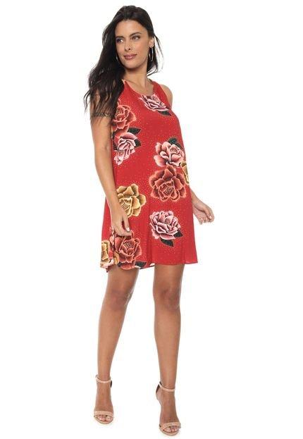 Lez a Lez Vestido Lez a Lez Curto Chiapas Vermelho