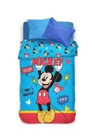 Acolchado Azul Piñata Mickey