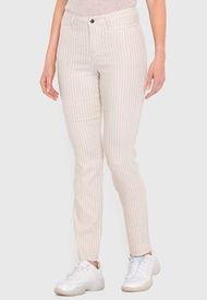 Pantalón Wados Listado Beige - Calce Regular
