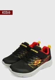 Tenis Lifestyle Negro-Multicolor Skechers Kids Microspec