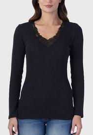 Pack 2 Camisetas Lady Genny Cotton Spandex Blanco/ Negro