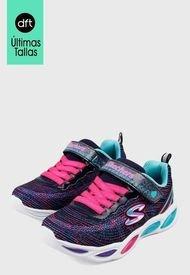 Tenis Training Azul-Multicolor Skechers Kids S LIights 20300L Bkmt