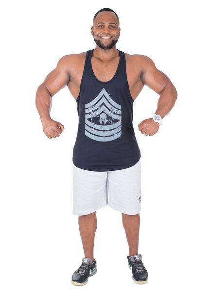 Regata Império Fitness Anatomic Military Preta