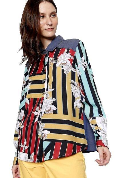 Energia Camisa Manga Longa Energia Fashion Multicolorida h3lJY