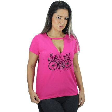 Beme Blusa Beme Algodão V Bicicleta Rosa RKcek
