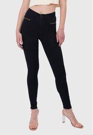Coral Jeans Cierres Negro Amalia Jeans