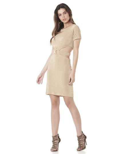 Serinah Brand Vestido com Recorte Serinah Brand Ouro eGXNr