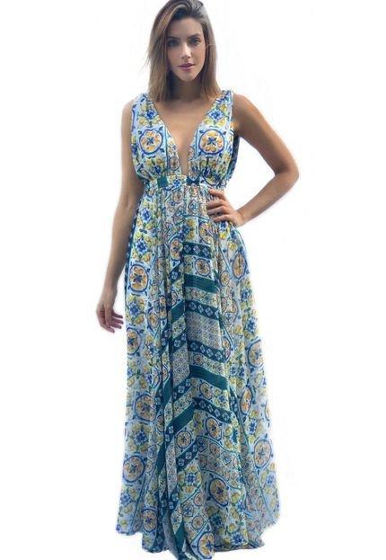 Miesse Vestido Miesse Festa Ibiza Estampado Azul 1y8Y7