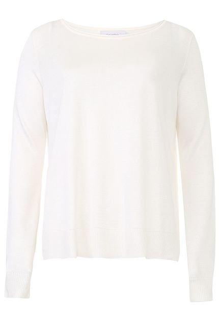 Calvin Klein Blusa Calvin Klein Recortes Off-White wREFo