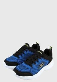Tenis Training Azul-Negro-Blanco Skechers Kids Snap Sprints
