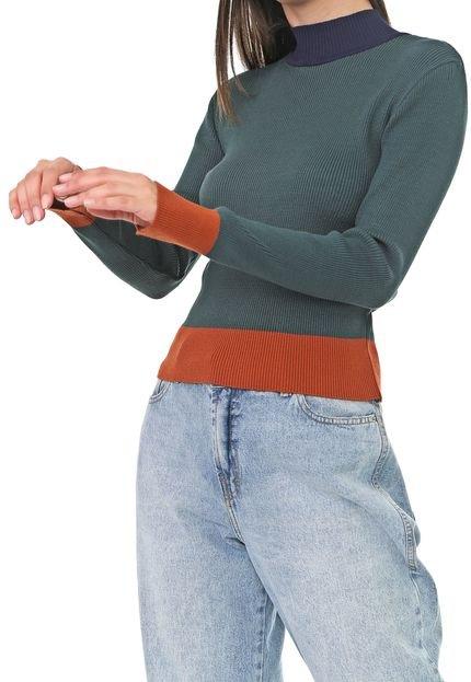 Dress to Suéter Dress to Tricot Colors Verde/Laranja jikSc