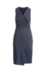 Vestido Stripe Azul Banana Republic