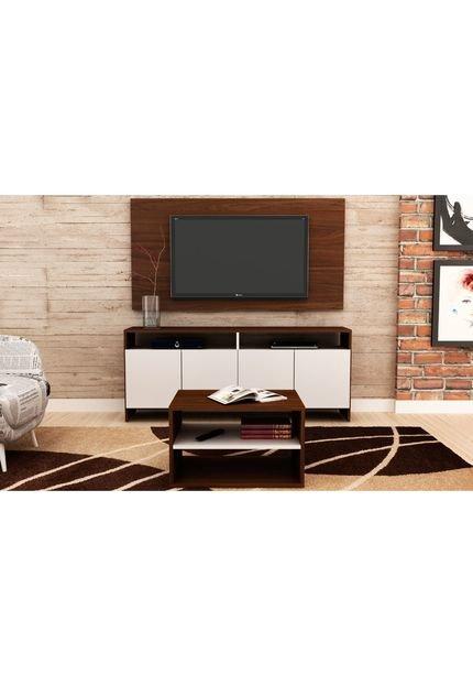 Painel Para Tv No Ático By Jack Móbiles: Conjunto Compacto Painel Rack Mesa D
