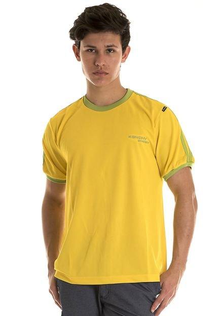 Camiseta Konciny Listras Amarela