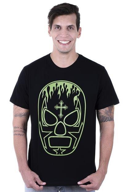 Camiseta Manga Curta Hardivision Viva México Preto