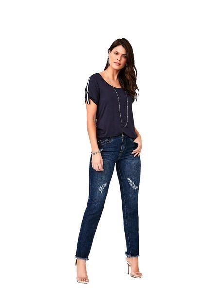 Youtwo Calça Cigarrete Jeans YouTwo Azul 1XCGW