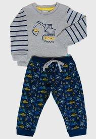 Pijama Palmers Niño Interlock Multicolor - Calce Regular