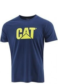 Polera M/C Hombre Slim Fit Logo Tee Azul CAT