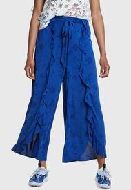 Pantalón Desigual Fluido Studio Azul - Calce Holgado
