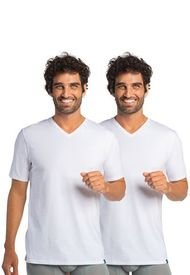 Camiseta Manga Corta Algodón Pack 2 Blanca Mota