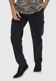 Jeans Relaxed Cargo Negro - Hombre Corona