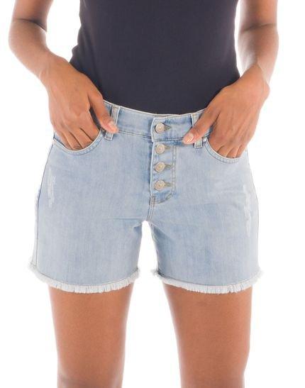Loony Shorts Jeans Braguilha Abotoada Jeans Azul fBnwA