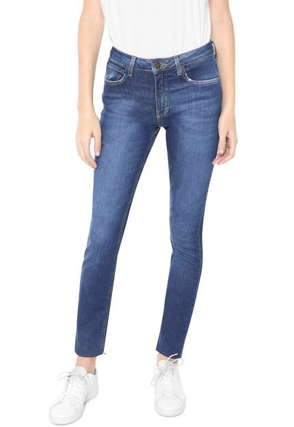 Menor preço em Calça Jeans Calvin Klein Jeans Slim Mid Rise Azul