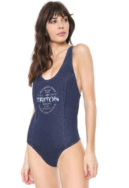Triton Body Triton Lettering Azul WeUd0