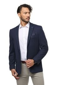Blazer Casual Azul Marino Guy Laroche