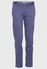 Pantalon Spandex Frente Plano Slim Fit Azul Jayson