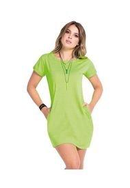 Vestido Corto Juvenil Femenino Verde Neón Atypical
