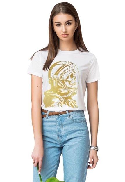 Joss Camiseta Joss Gold Astro Branca poxbG