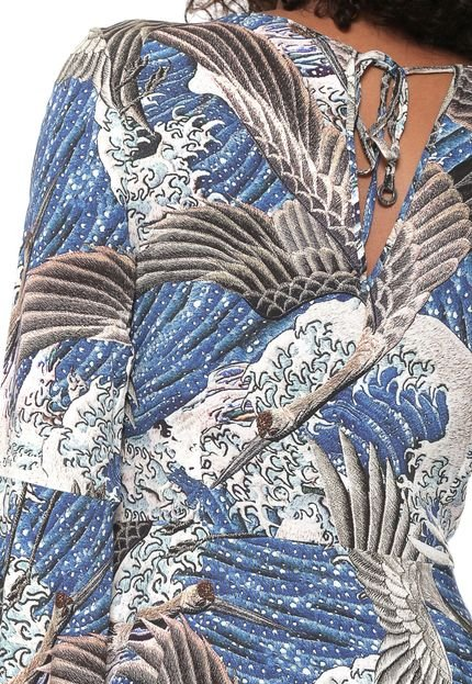 Lez a Lez Vestido Lez a Lez Curto Estampado Azul