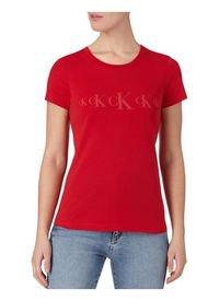 Polera Ck Eco Slim  Rojo Calvin Klein