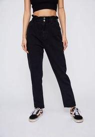 Jeans Negro Pretina Elasticada Sioux