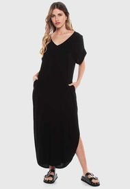 Vestido Wados MC Solid Negro - Calce Regular