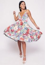 Vestido Dani Flores Colores Natalia Seguel