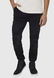Jeans Jogger Roturas Negro - Hombre Corona