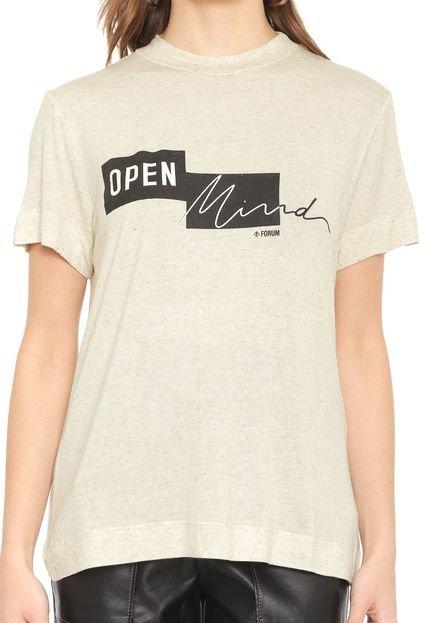 Forum Camiseta Forum Open Mind Bege