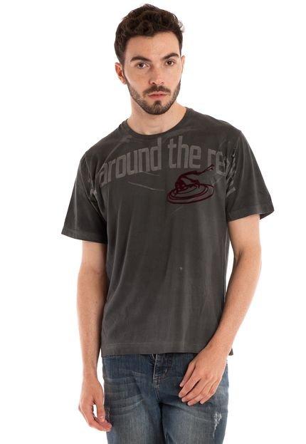 Camisa Básica Manga Curta Grafite