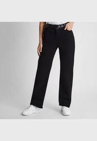 Jeans Recto Con Cinturón Negro Curvi
