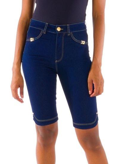 Loony Bermuda Ciclista Jeans Modeladora Jeans Azul ARK7I