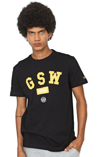 Camiseta New Era Golden State Warriors Preta