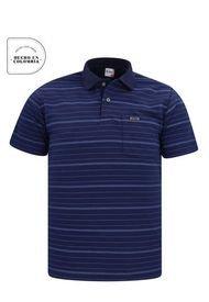 Camiseta Tipo Polo Azul Petroleo Audax Con Bolsillo