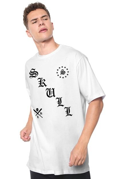 Camiseta Skull Clothing Manga Curta Nothing Nice Branca