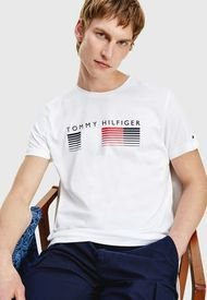 Polera Tommy Hilfiger FADE GRAPHIC CORP TEE Blanco - Calce Regular