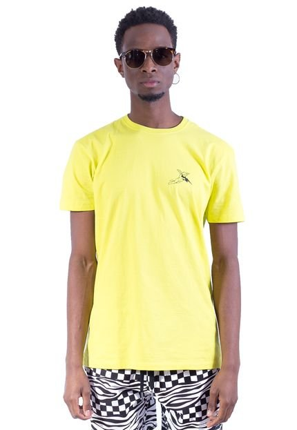 Camiseta Shivoo Classic Breaking Hearts Verde Neon