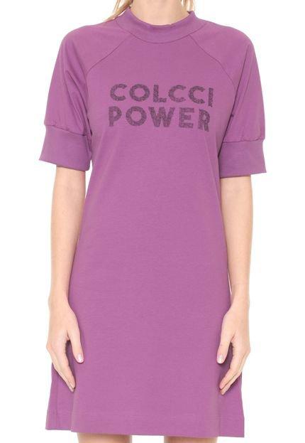 Colcci Fitness Vestido Colcci Fitness Curto Power Roxo